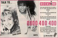 Debbie Gibson-advert for Rockline